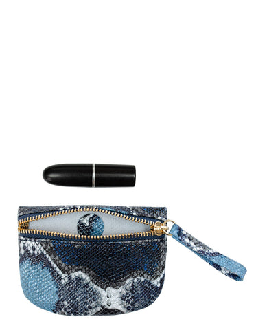 MVP Pouch in Blue Multi Python