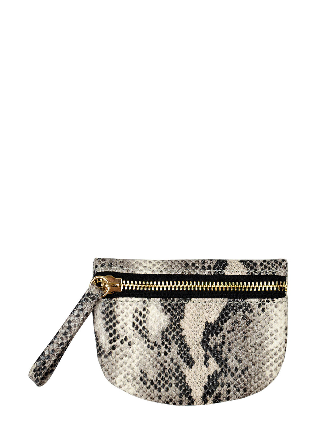 MVP Pouch in Black/Ivory Python