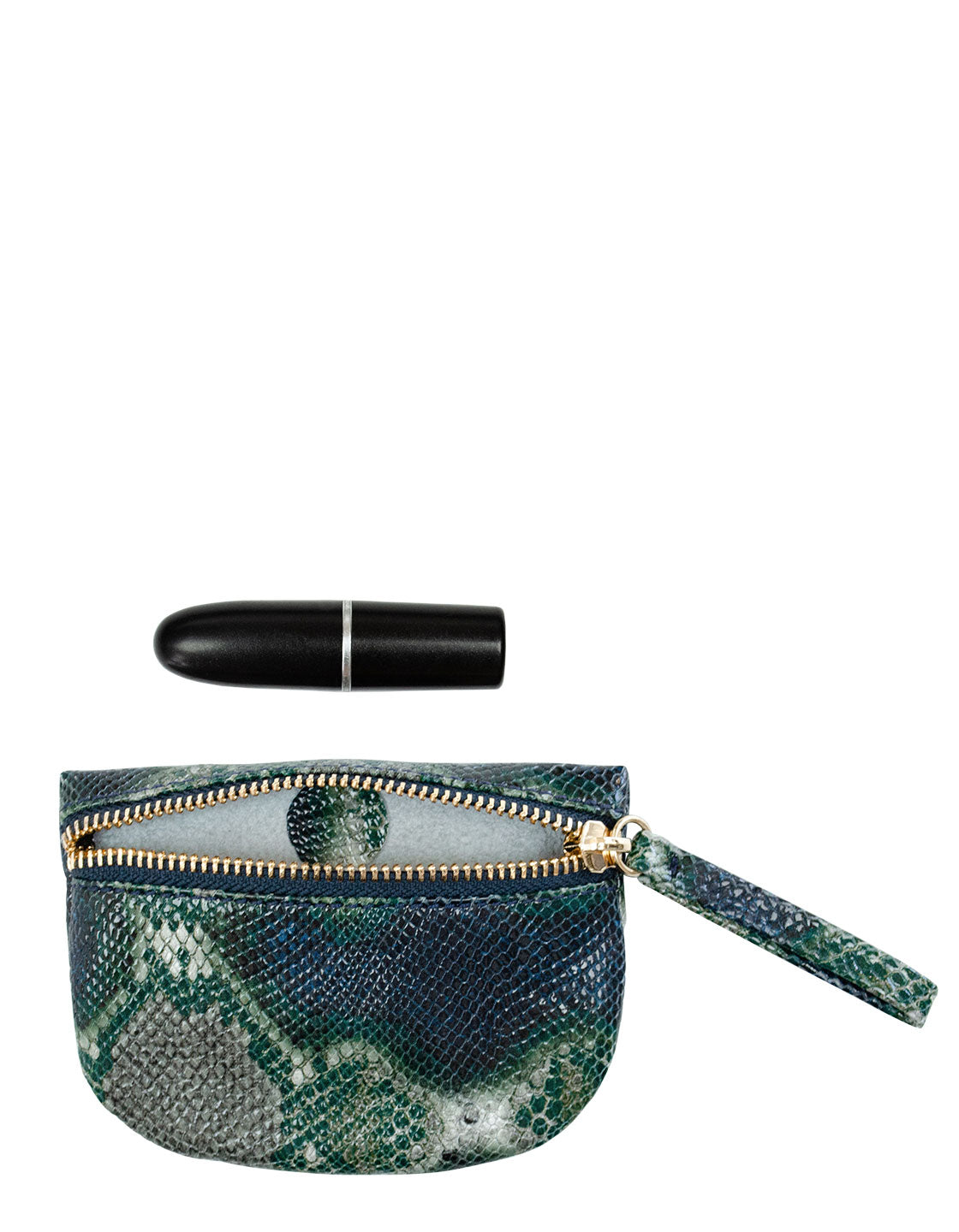 MVP Pouch in Green Multi Python