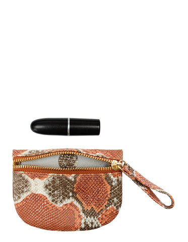 MVP Pouch in Orange Multi Python