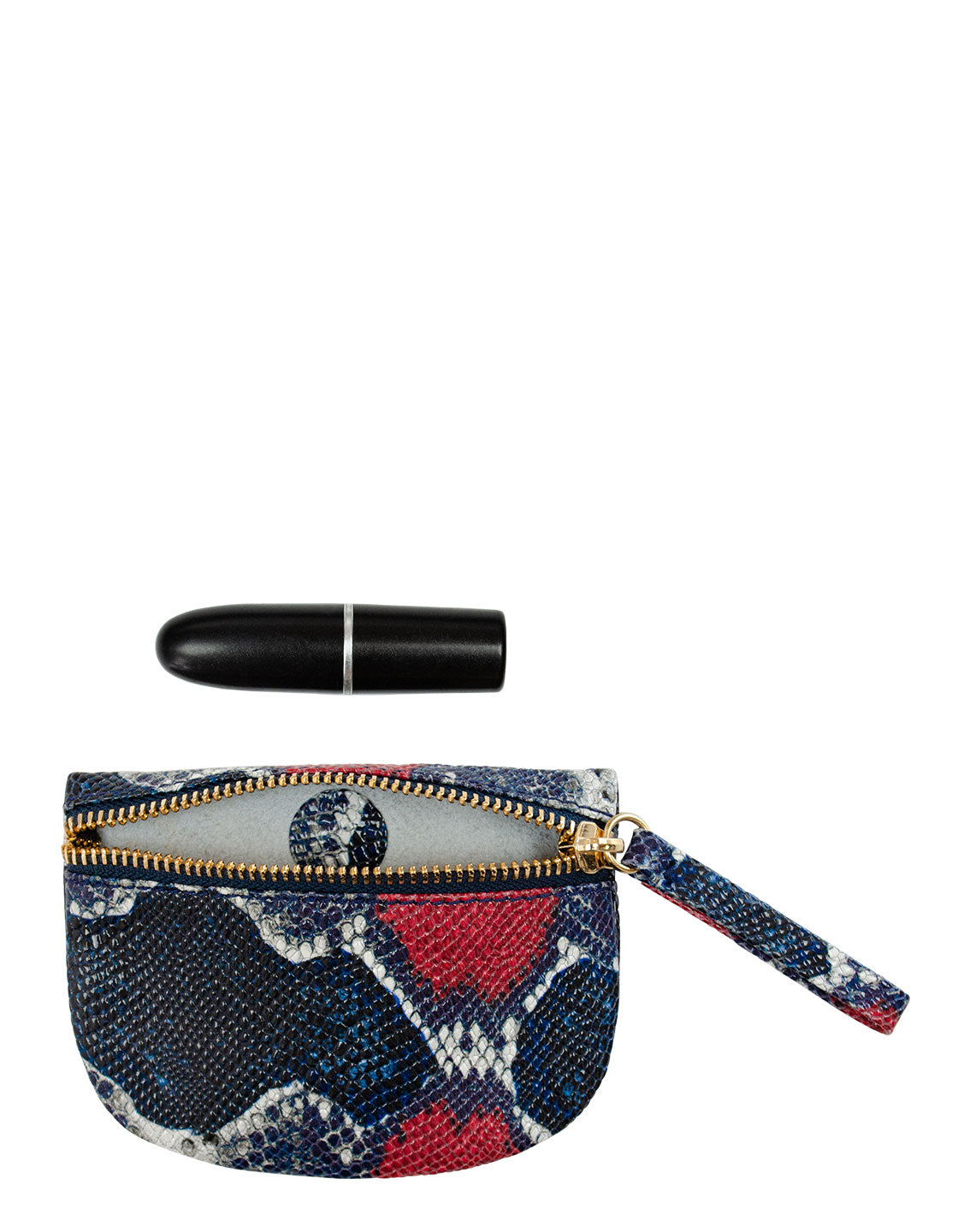 MVP Pouch in Red/Navy Multi Python