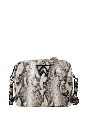 Mingle Mingle Mini in Black/Ivory Python