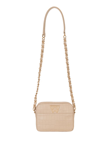 Mingle Mingle Mini in Almond Croco
