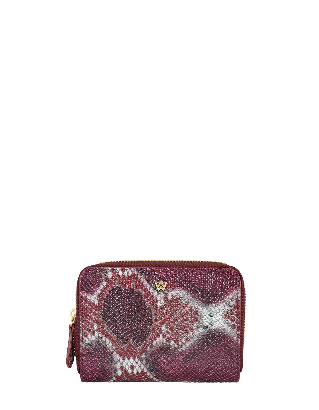 Money Maker Mini Wallet in Crimson/Maroon Multi Python