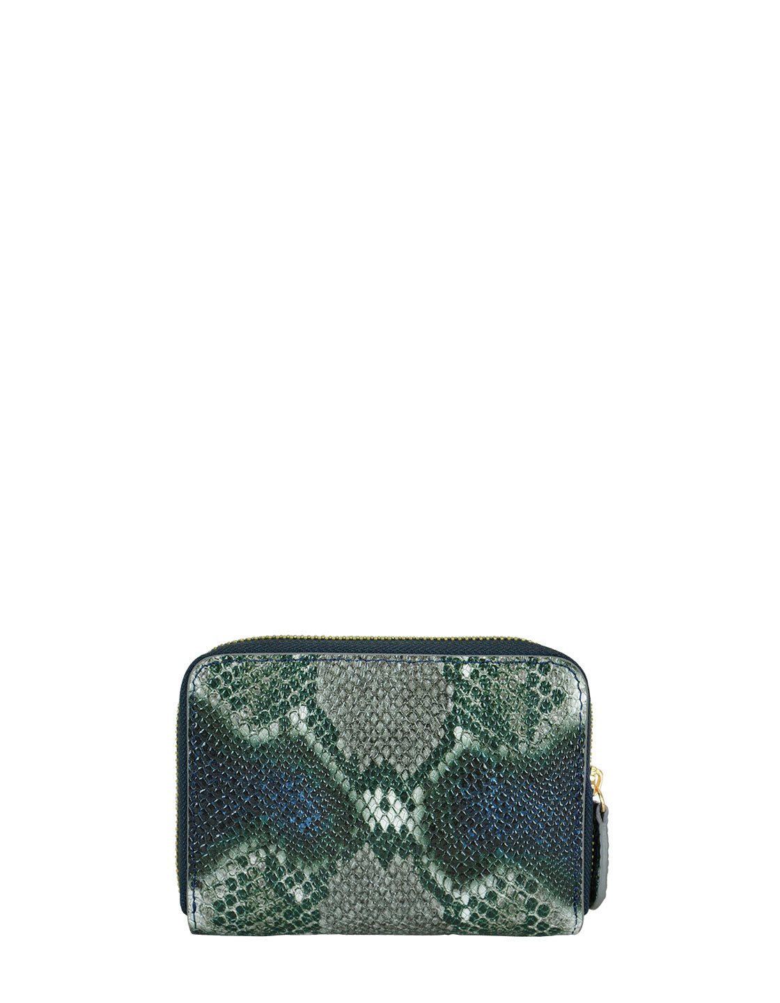 Money Maker Mini Wallet in Green Multi Python