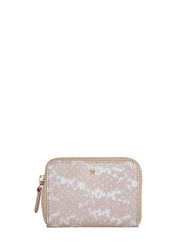 Money Maker Mini Wallet in Nude Saffie