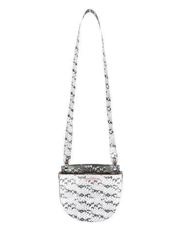 No Curfew Crossbody in Black & White Saffie