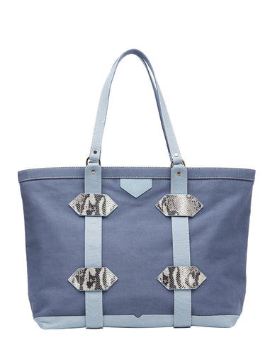 Large Out of Town Tote in Blue