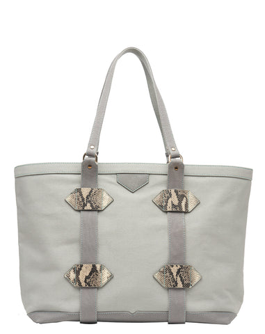 Large Out of Town Tote in Grey