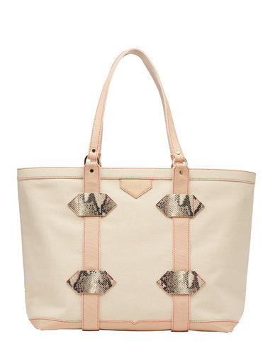 Large Out of Town Tote in Sand