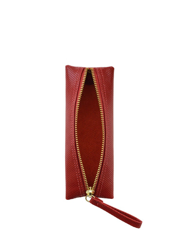 Privacy Pouch in Red Haute