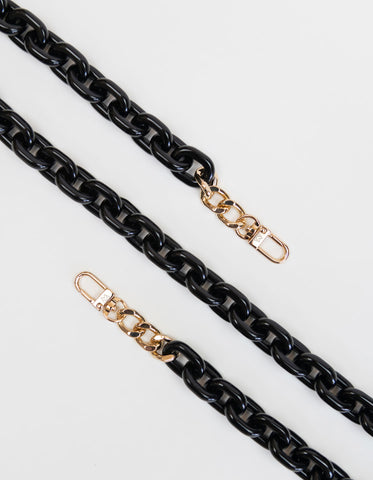 Resin Chain Strap in Opaque Black