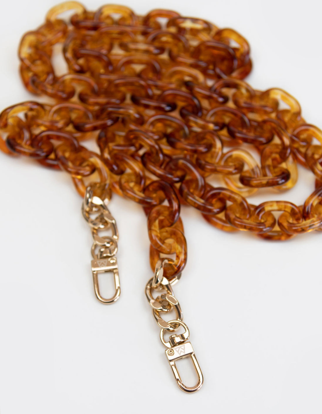 Resin Chain Strap in Translucent Tortoise