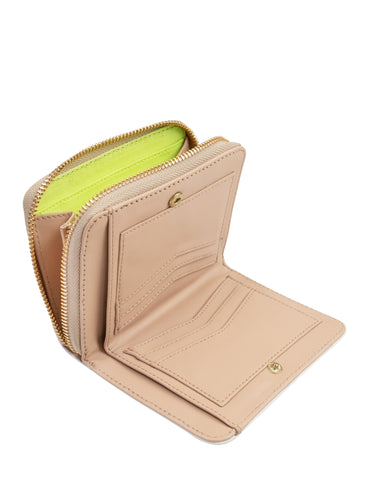 Sealed With A Zip Wallet in Nude Saffie
