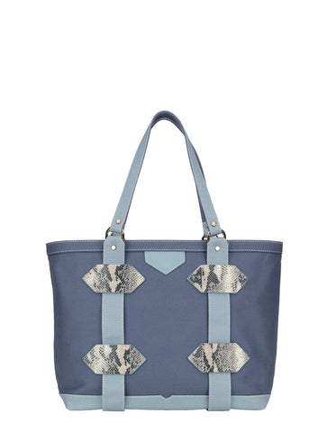 Small Out of Town Tote in Blue