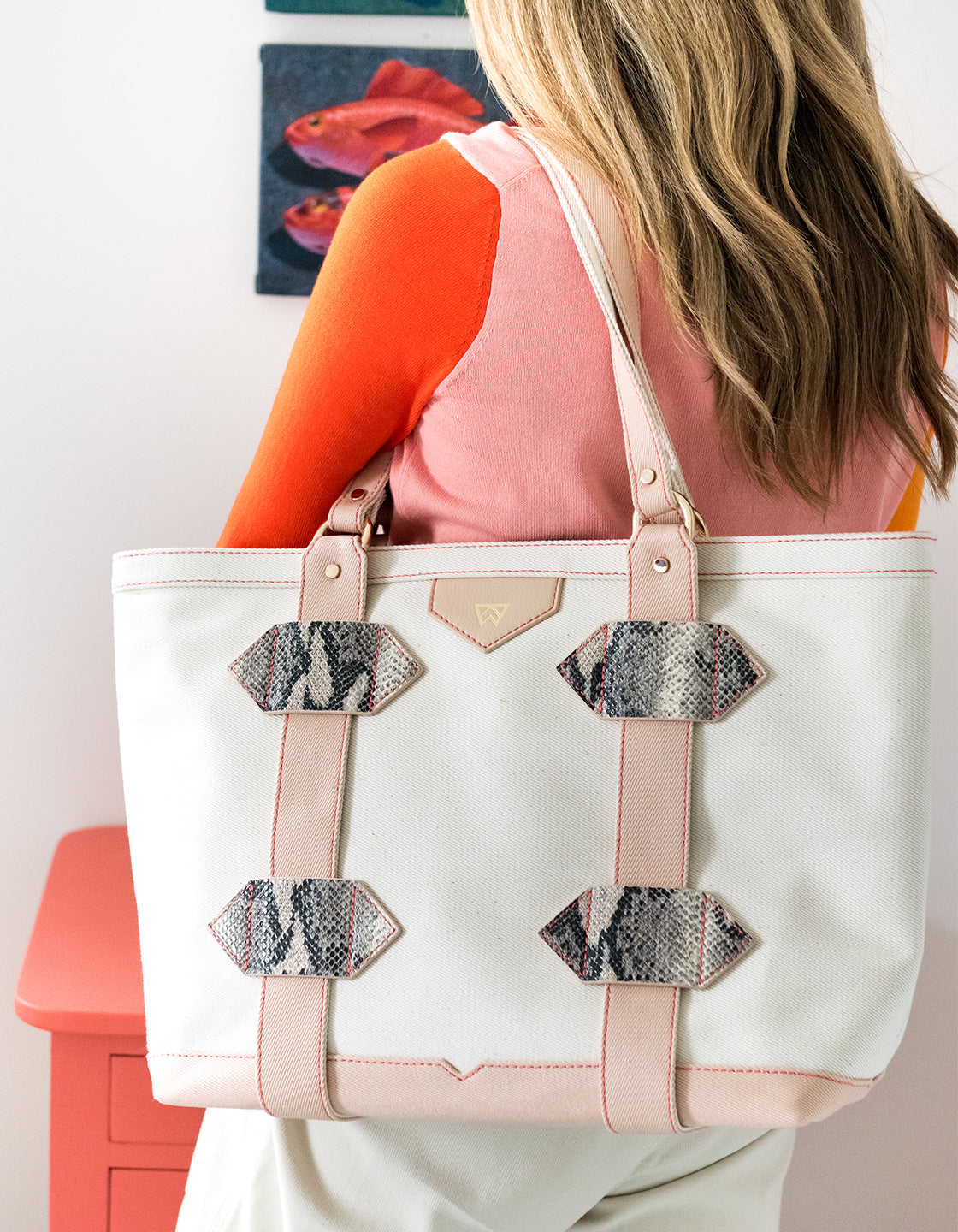 Small Out of Town Tote in Sand