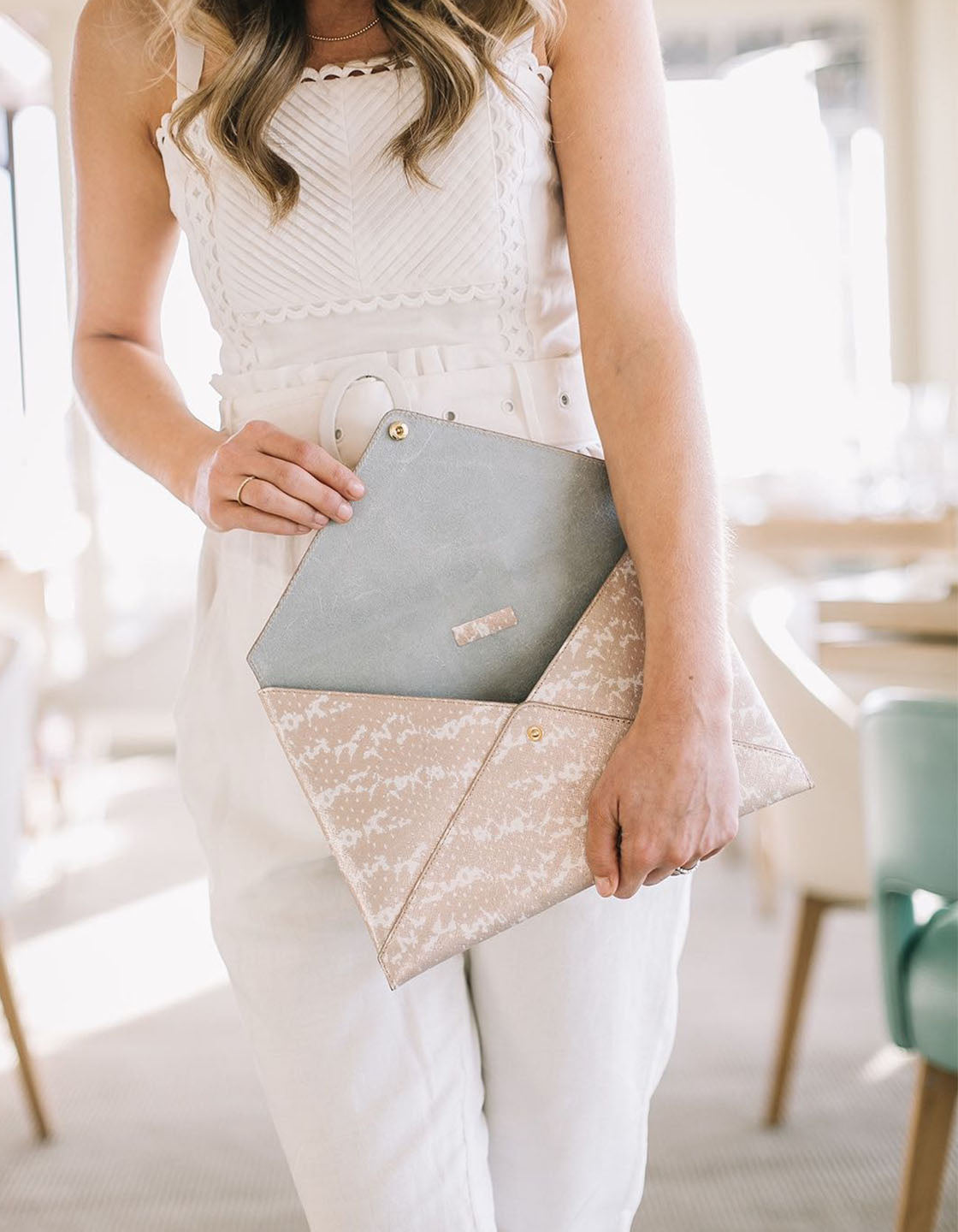Medium All The Things Envelope in Blush Saffie