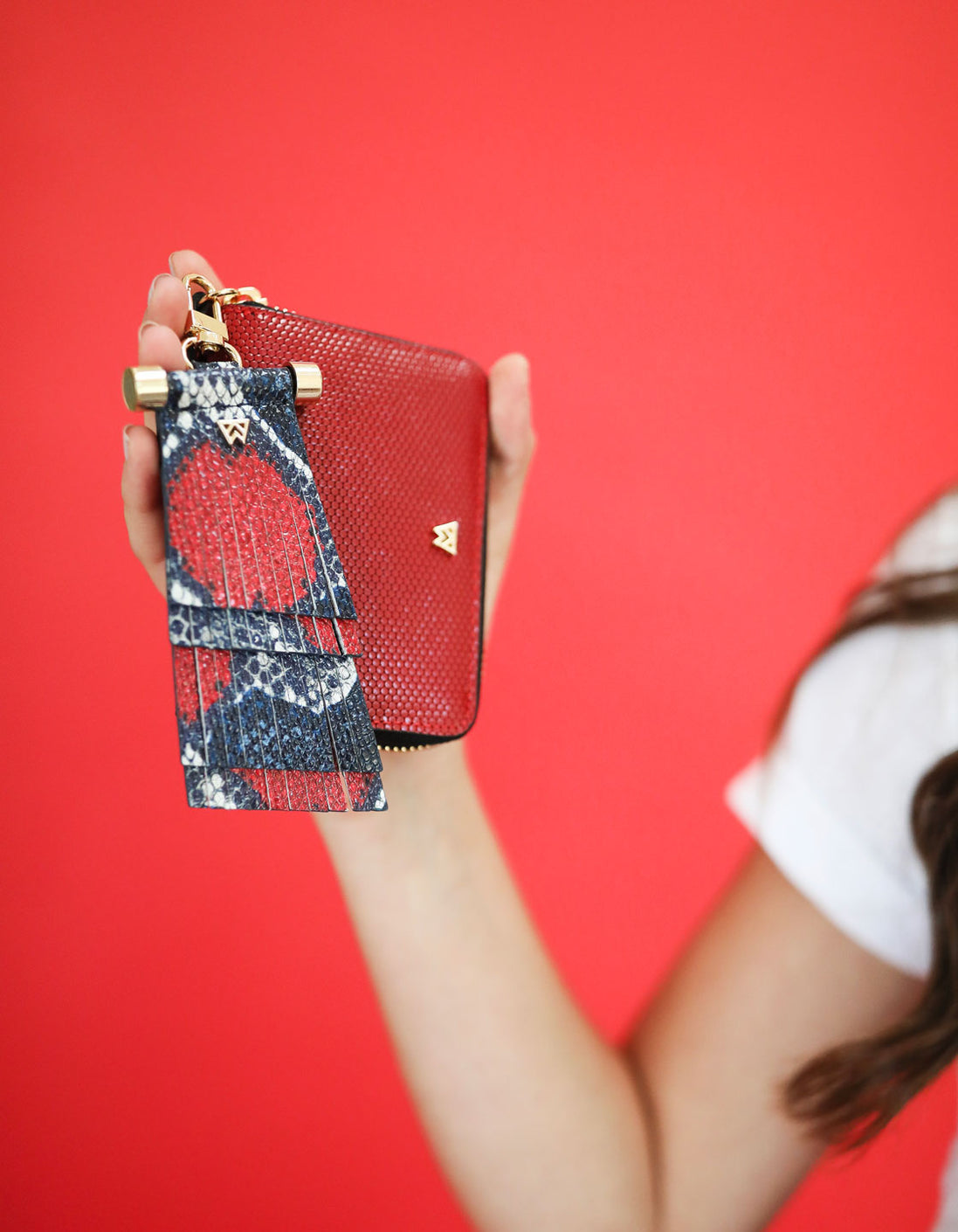 Money Maker Mini Wallet in Red Haute/Black