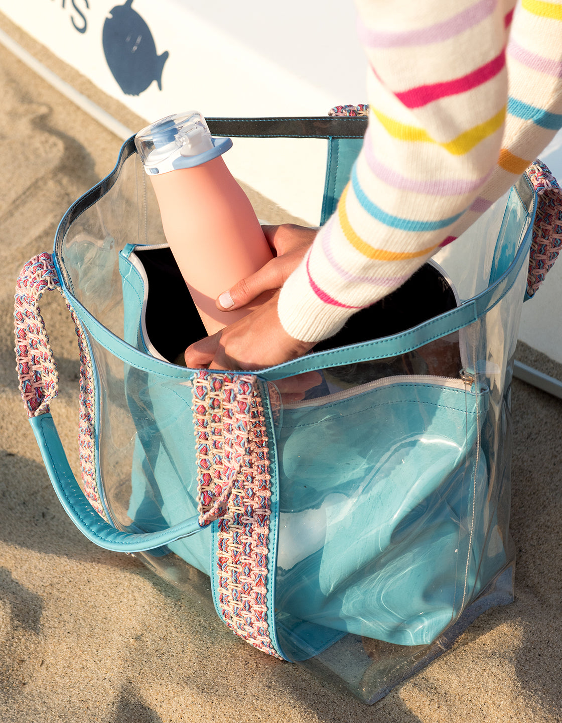 Bring on the Beach Bag in Turquoise