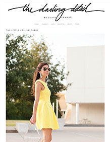 The Darling Detail – The Little Yellow Dress