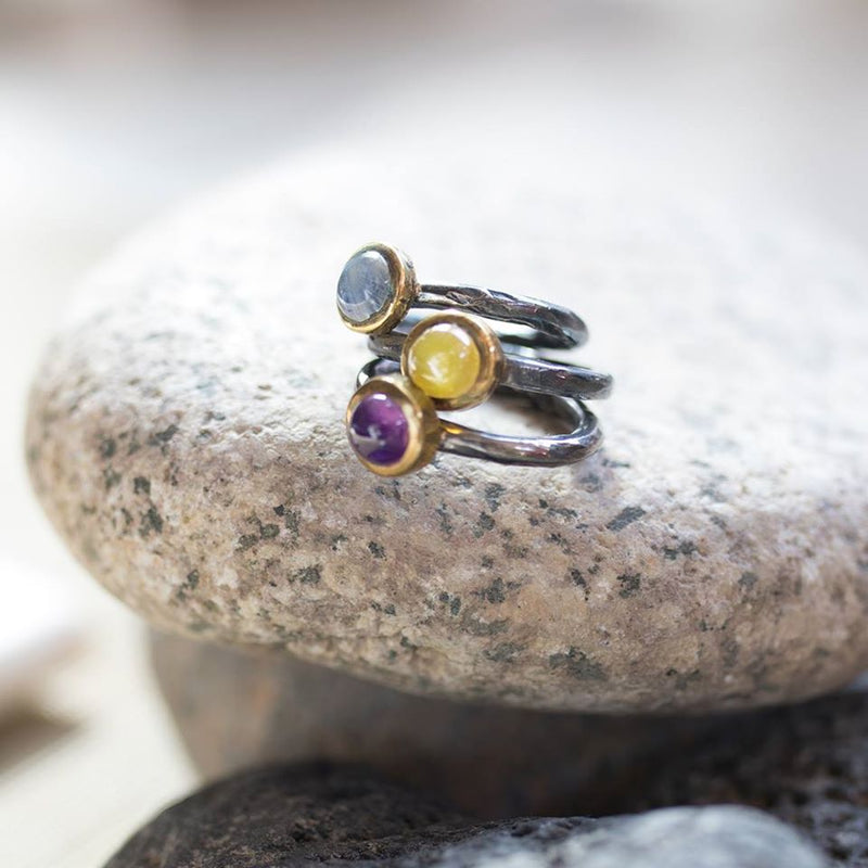 SAIGON AMETHYST STACKING RING