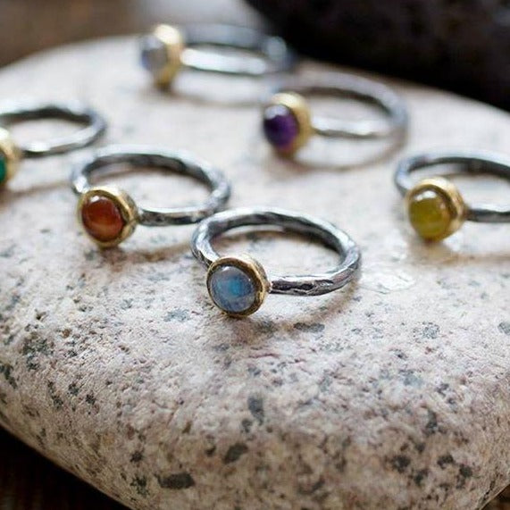 SAIGON LABRADORITE STACKING RING