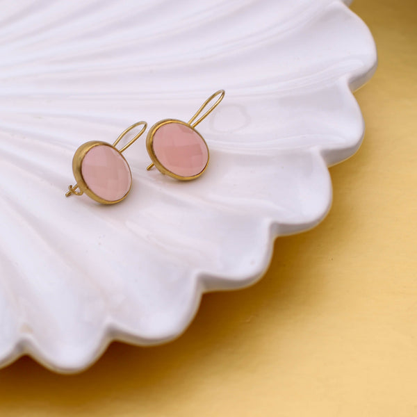JAIPUR ROSE QUARTZ EARRINGS