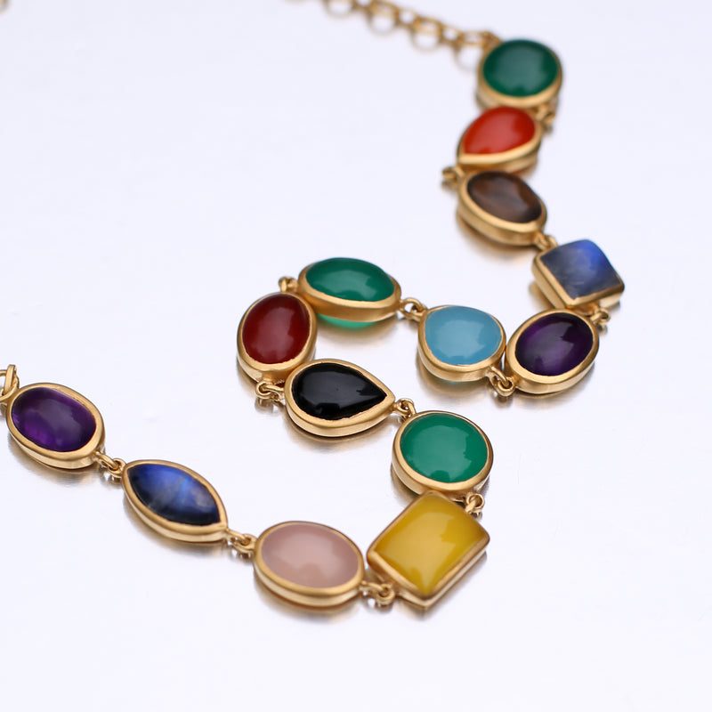JAIPUR MULTI STONE NECKLACE