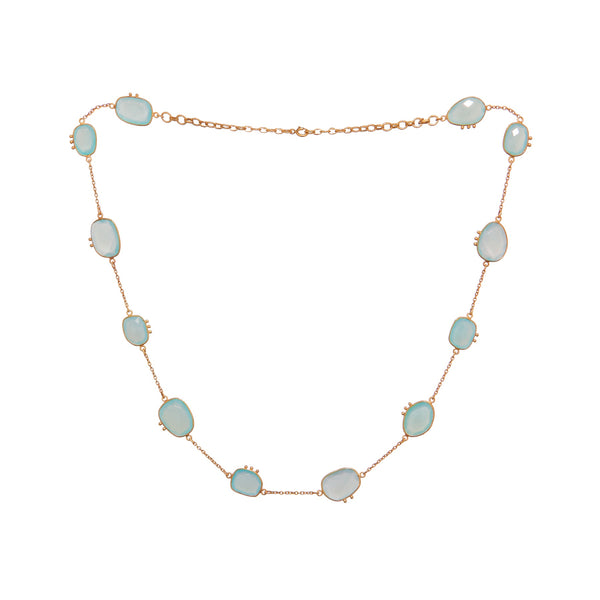 AMAZONIA BLUE CHALCEDONY NECKLACE