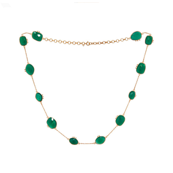 AMAZONIA ORGANICA GREEN NECKLACE