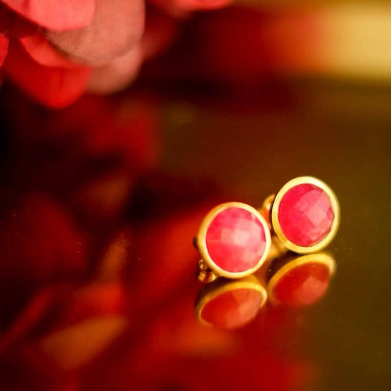 JAIPUR QUARTZ STUD EARRINGS