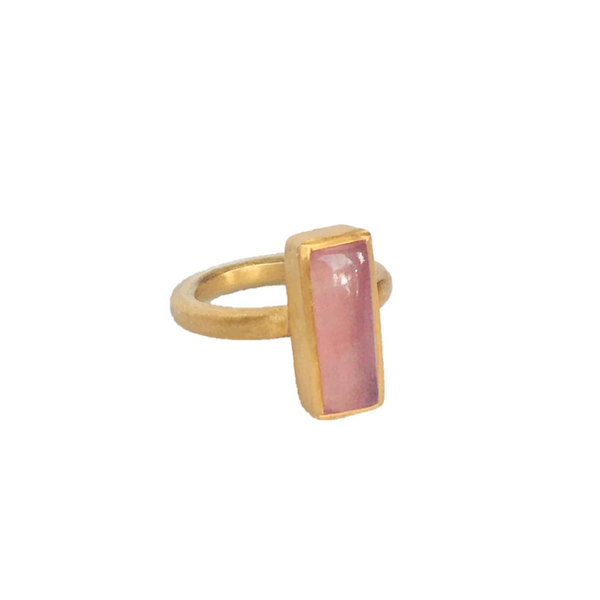 JAIPUR PINK JADE STACKING RING