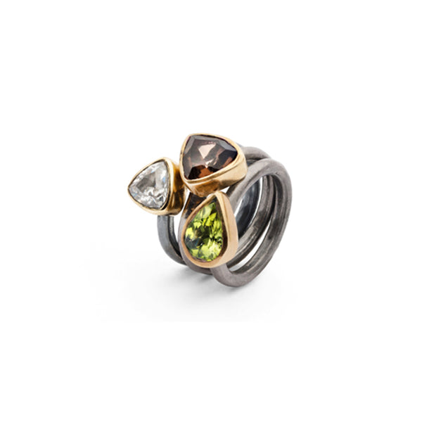 SAIGON SMOKY QUARTZ KALEIDOSCOPE RING