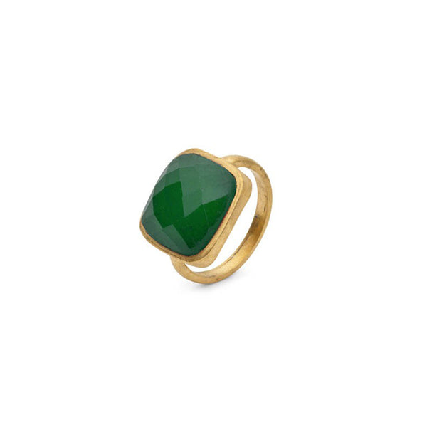 AMAZONIA GREEN CUSHION CUT RING