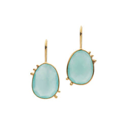 AMAZONIA CHALCEDONY DROP EARRINGS