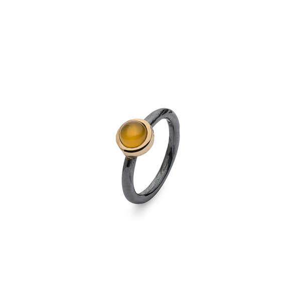 SAIGON YELLOW ONYX STACKING RING
