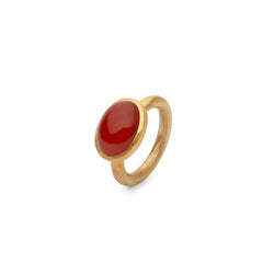 JAIPUR RED CABOCHON STACKING RING