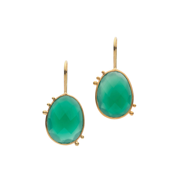 AMAZONIA ORGANICA GREEN EARRINGS