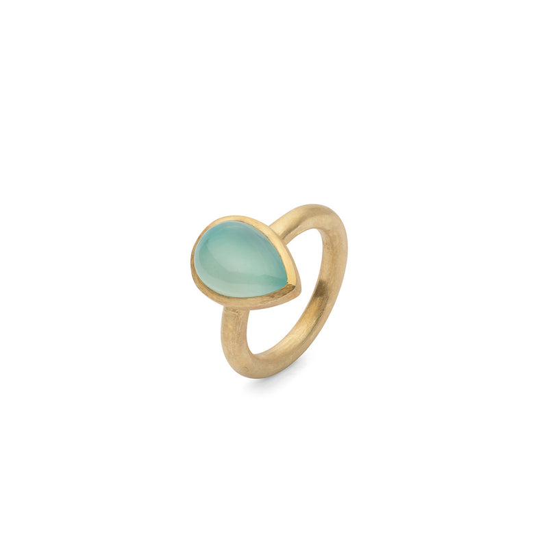 JAIPUR BLUE CABOCHON STACKING RING