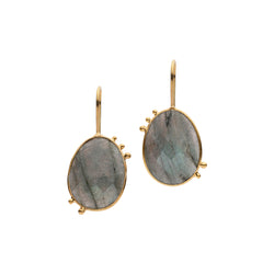 AMAZONIA LABRADORITE DROP EARRINGS
