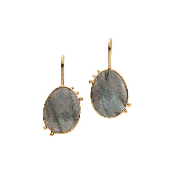 AMAZONIA ORGANICA LABRADORITE EARRINGS