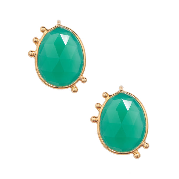 AMAZONIA ORGANICA GREEN STUD EARRINGS