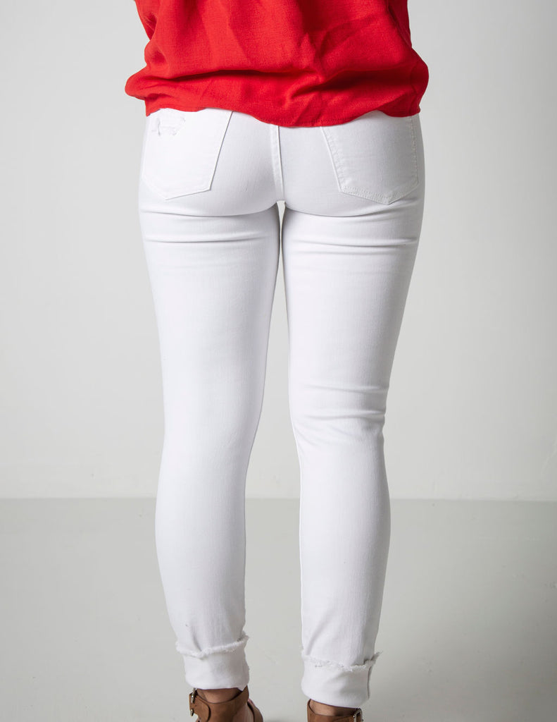 SNOW WHITE SKINNY DENIM