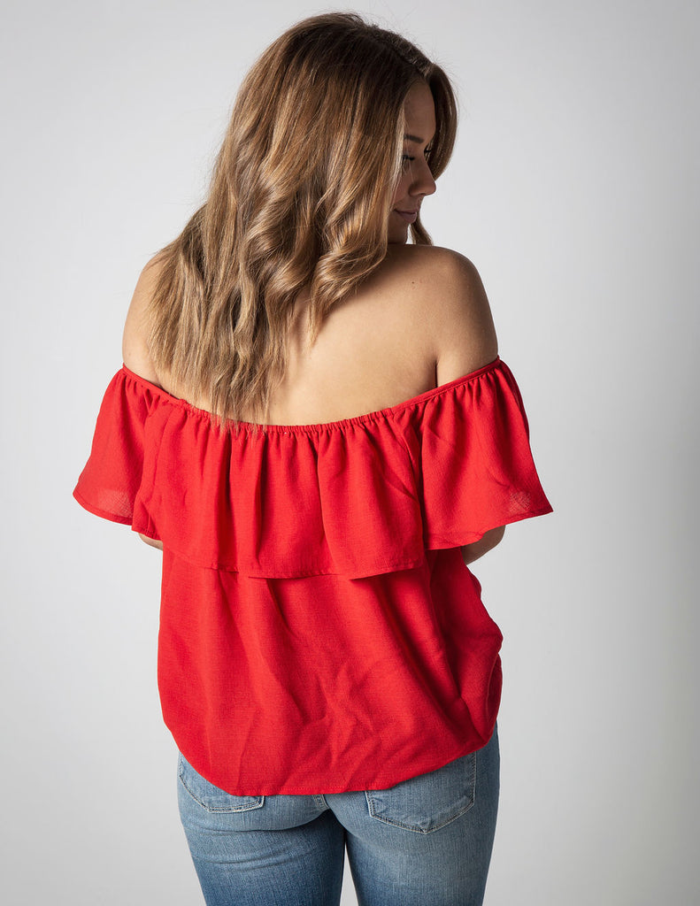 ROSES OFF THE SHOULDER TOP