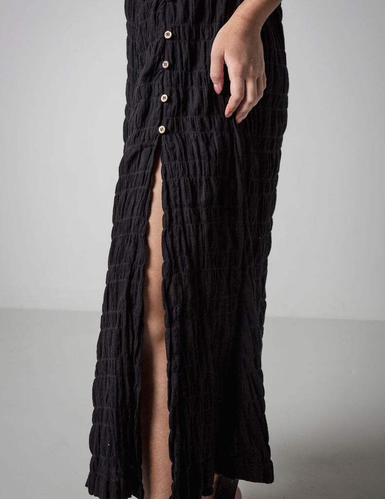 CUT IT OUT BLACK MAXI