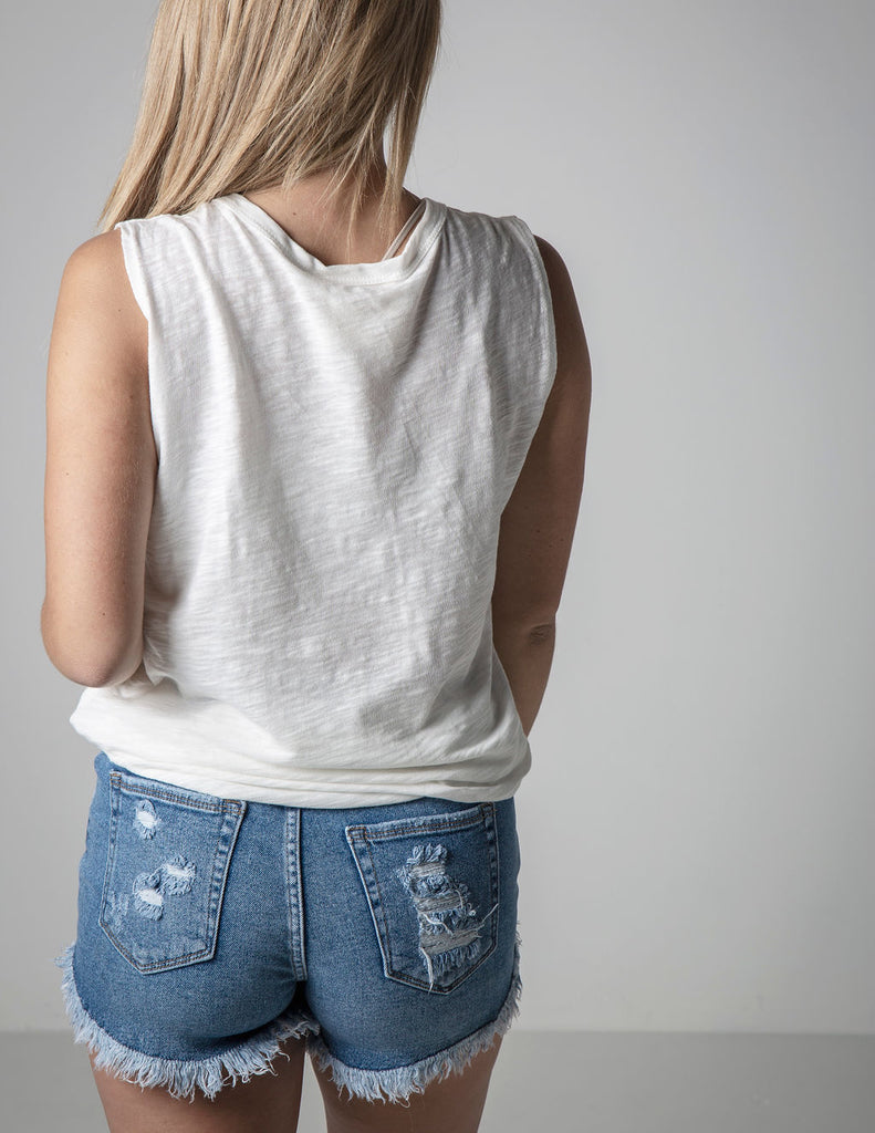 NO DI'STRESSING' TANK IN IVORY