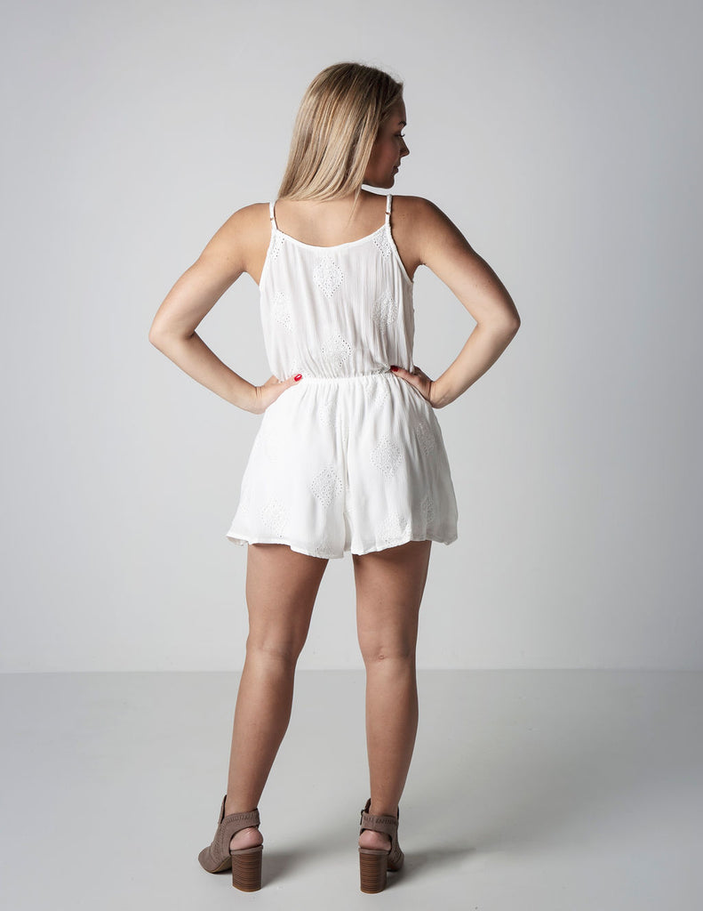 TIE THE KNOT WHITE ROMPER