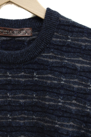 Noble Wilde Ripple Sweater bluewash base