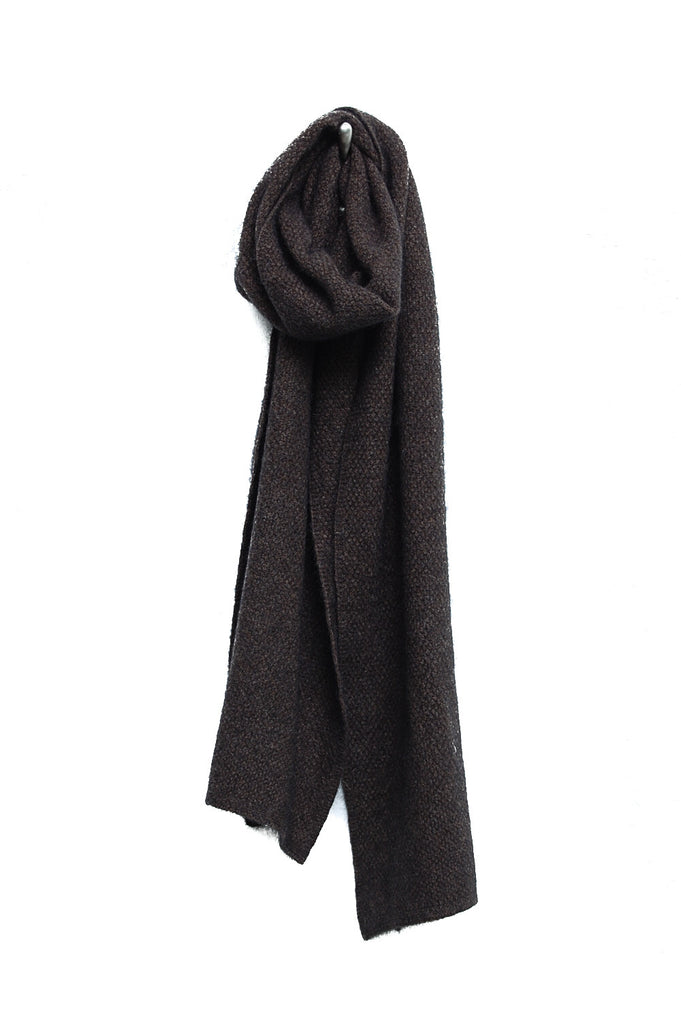 Noble Wilde Monti Moss Stitch scarf ebony (brown/black)
