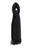 Noble Wilde Fringed Scarf black